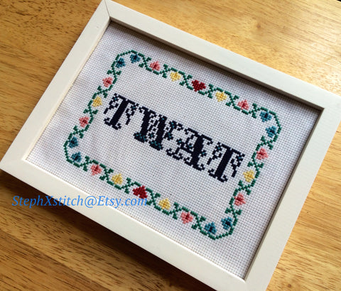 Twat - PDF Cross Stitch Pattern