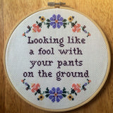 Pants On the Ground - PDF Cross Stitch Pattern