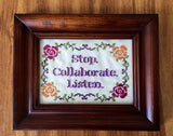Vanilla Ice Stop Collaborate Listen - PDF Cross Stitch Pattern