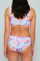 Floral and Striped Bikini Set, Swimsuit - The Ivory Closet