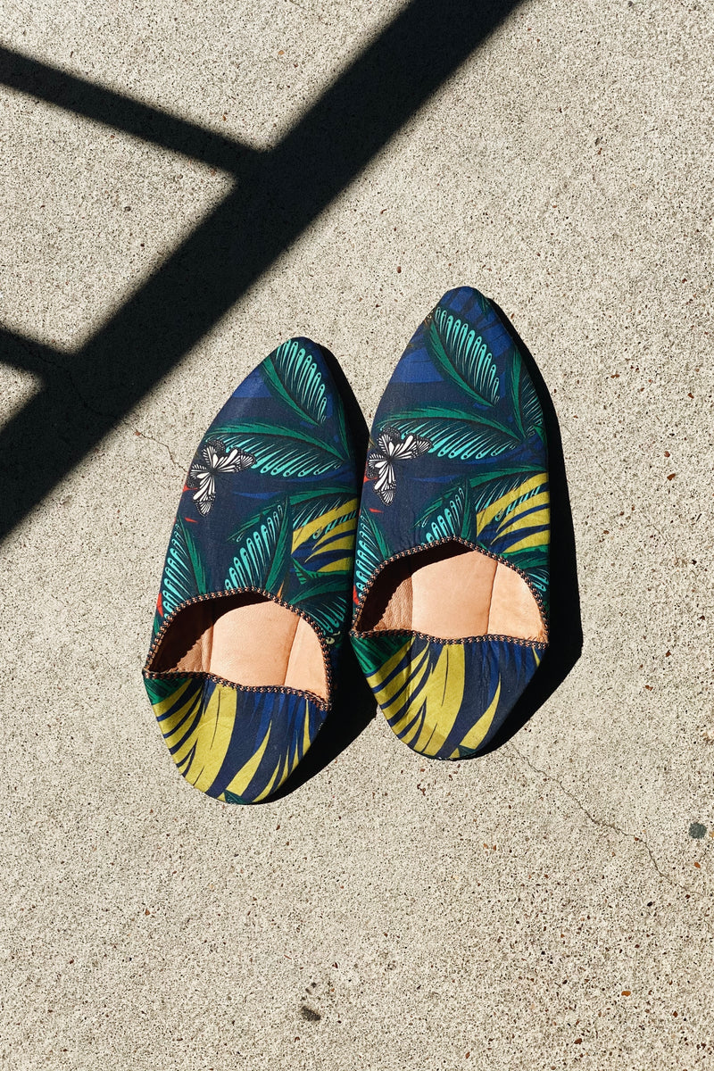 Fabric Moroccan Babouche Slippers