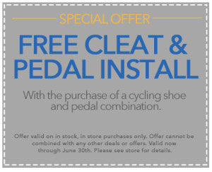 Cleat and Pedal Coupon
