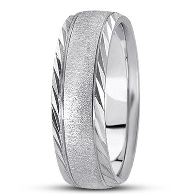 M1014 Textured Wedding Band