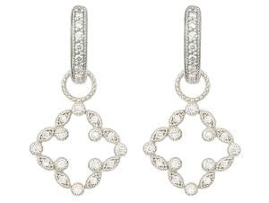 PAVE OPEN CLOVER MARQUIS EARRING CHARM