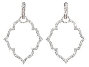 MICHELLE FLOWER PAVE EARRING CHARM FRAMES