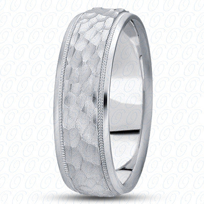 M1178 Hammered Wedding Band