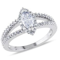 2.25 Carats Marquise Split Shank Halo Engagement Ring
