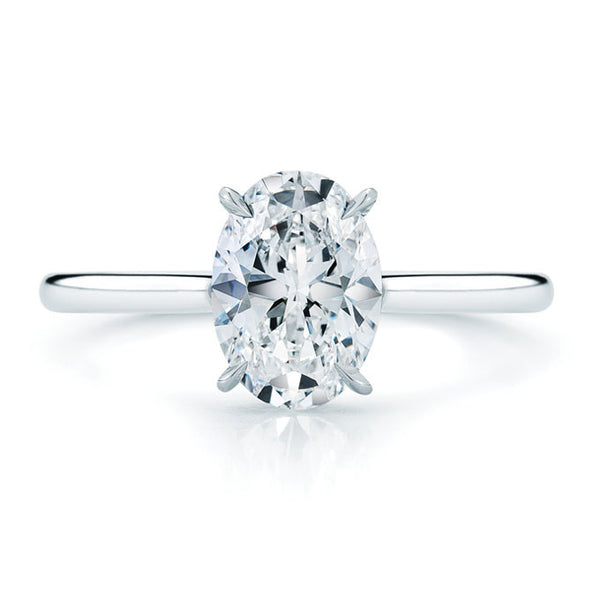 1.0 carat Oval Solitaire Engagement