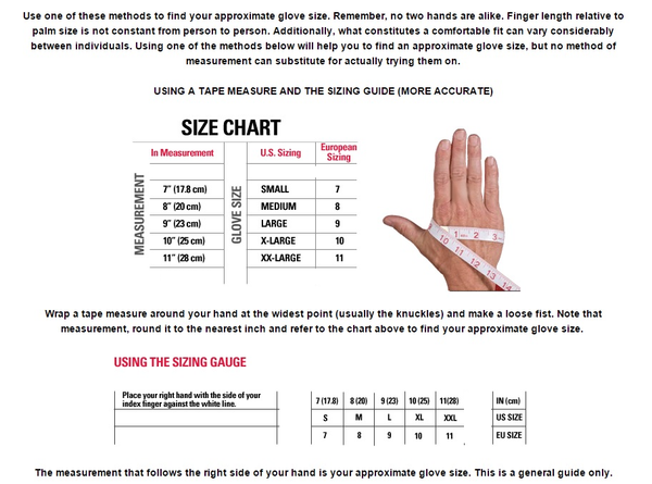 General Glove Sizing