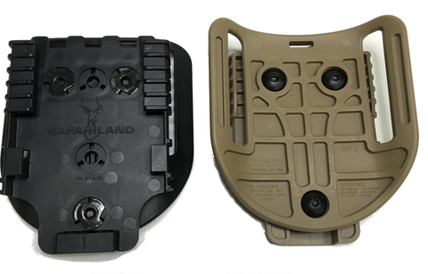 Safariland Hi-Ride 6072UBL with QLS 22, Safariland - HolsterOps