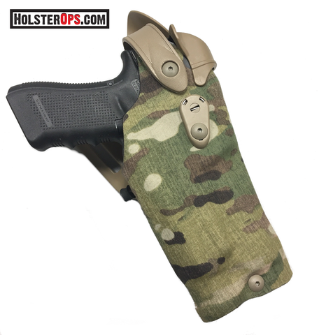 Safariland 6304RDS ALS/SLS Multi-Cam Optic Holster LIII with QLS 19 Holster Fork, Safariland - HolsterOps