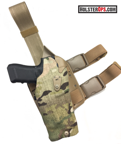 "Safariland 6384RDS ALS Optic LI Holster ""Multicam"" For Glock Tactical Thigh Holster, Safariland - HolsterOps"