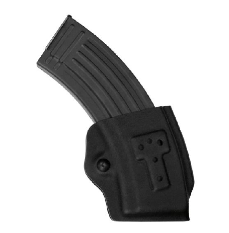 Safariland 774 AK-47 Rifle Mag Pouch with ELS 34 Accessory Fork, ELS 34&35, or 744BL Belt Clip, Safariland - HolsterOps