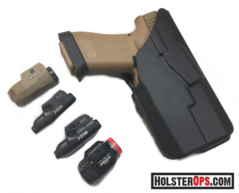 NEW 7TS™ ALS® Concealment Holster Glock w/TLR-6, 7&8, XC1 & 2, APL-C, Safariland - HolsterOps