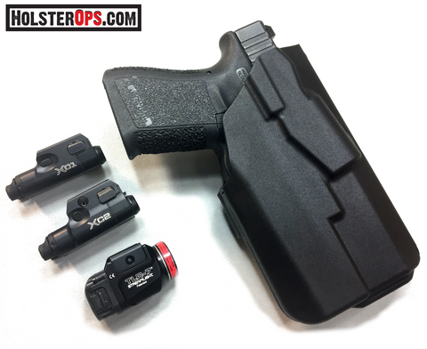 NEW 7TS™ ALS® Concealment Holster Glock w/TLR-6, 7&8, XC1 & 2, APL-C Custom Cutdown Version, Safariland - HolsterOps