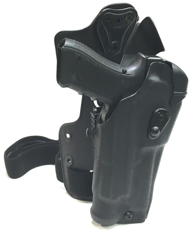 Safariland ALS RDS LI Optic Holster w/UFA & Paddle on Single Strap Tactical Rig, Safariland - HolsterOps