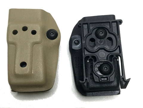 Safariland 774 MP5 Mag Pouch with ELS 34 Accessory Fork, ELS 34 & 35, or 744BL Belt Clip, Safariland - HolsterOps