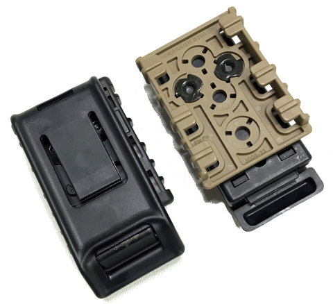 Safariland 744BL Accessory Belt Clip with ELS35 Receiver Plate, Safariland - HolsterOps