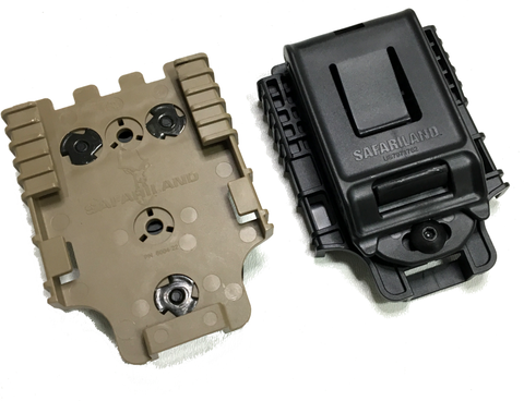 Safariland 745BL Belt Clip with QLS22 Receiver Plate, Safariland - HolsterOps