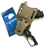 JIT Knife, Holster Mounted Knife on 7390 rear view