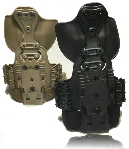 Safariland 6004 Tactical Leg Shroud w/  UFA, Paddle, QLS 22 & 2 ELS 35 On-Side Rig, Safariland - HolsterOps