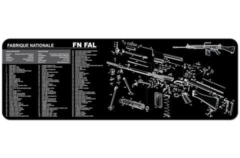 FN FAL Rifle Gun Cleaning Mat, HolsterOps - HolsterOps