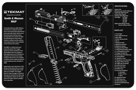 TekMat Smith & Wesson M&P Gun Cleaning Mat, HolsterOps - HolsterOps