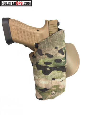 "Safariland Model USN Glock w/Light ALS Low Signature Holster ""MULTICAM"" & COYOTE  Choose Your Mount, 6371,6376,6377,6378,6379, Safariland - HolsterOps"
