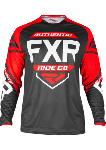 FXR YOUTH CLUTCH RETRO MX JERSEY BLK/RED/WHT