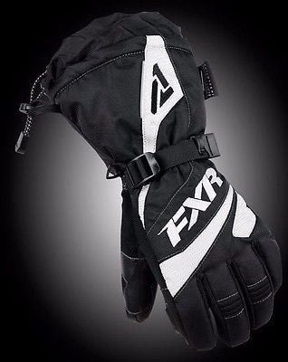 FXR Womens Fusion Glove Black/White Free Shipping!!!!