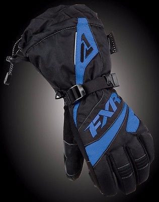 FXR Womens Fuel Glove Black/Blue Large Free Shipping!!!!