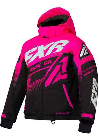 FXR CHILDREN'S BOOST JACKET FUCHSIA/BLACK/WHITE Free Shipping!!!!!