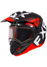 2020 FXR Torque X Evo helmet BLK/RED/CHAR with electric shield FREE SHIPPING!!!