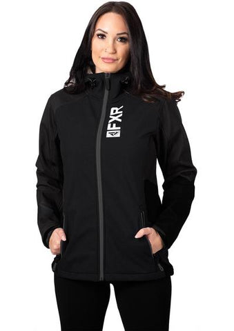 2020 FXR LADIES PULSE SOFTSHELL JACKET BLACK/WHITE FREE SHIPPING