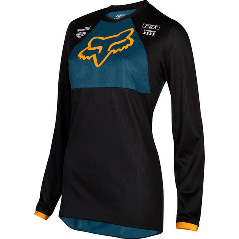 FOX YTH GIRLS 180 MATA JERSEY NAVY