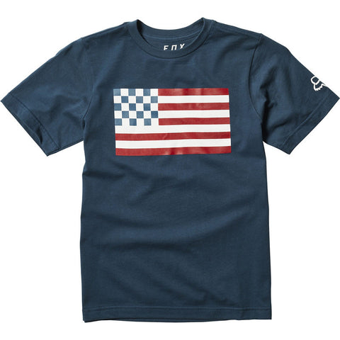 FOX YOUTH PATRIOT SS TEE NAVY