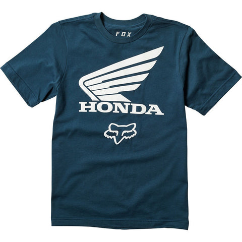 FOX YOUTH HONDA SS TEE NAVY