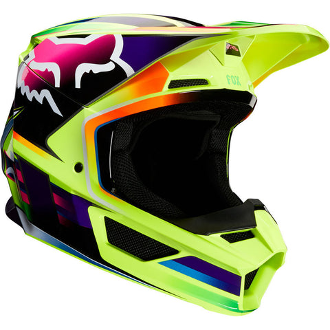Fox V1 Gama Helmet YELLOW Free shipping!!!