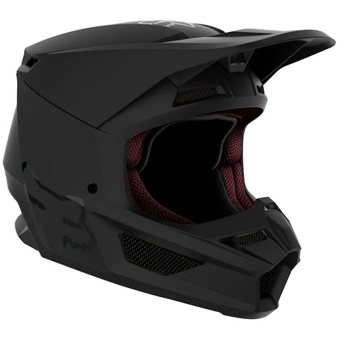 Fox YOUTH V1 MATTE BLACK HELMET  Free shipping!!!