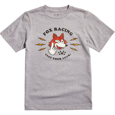 FOX YOUTH TEST YOUR LUCK SS TEE Light Heather Grey