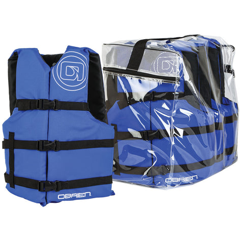 O'BRIEN UNIVERSAL LIFE JACKET (4-PACK) BLUE