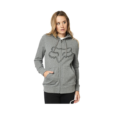 FOX WOMEN'S BARSTOW ZIP FLEECE HEATHER GRAPHITE
