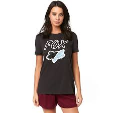 FOX WOMEN'S CIVIC STADIUM SS TOP BLACK VINTAGE