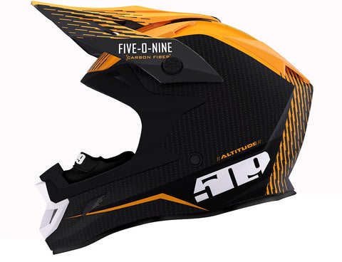 2019 509 Altitude Carbon Fiber Fidlock Off The Grid Orange ECE Helmet Free Shipping