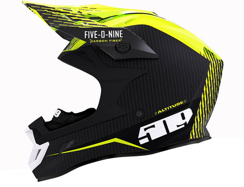 2019 509 Altitude Carbon Fiber Fidlock Off The Grid Hi-Vis Helmet Free Shipping