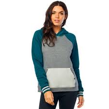 FOX WOMEN'S FLAT TRACK PO HOODIE LIGHT/JADE IRIDIUM