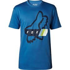 FOX MEN'S FOURTH DIVISION SS TEE DISTANT BLUE
