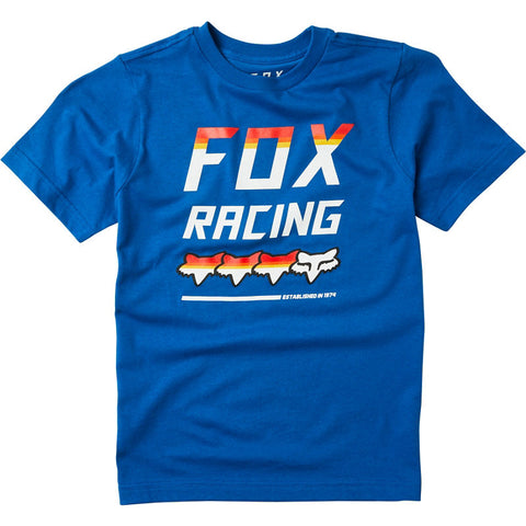 FOX YOUTH FULL COUNT SS TEE ROYAL BLUE