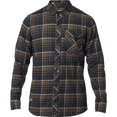 FOX MEN'S GAMUT STRETCH FLANNEL BLACK
