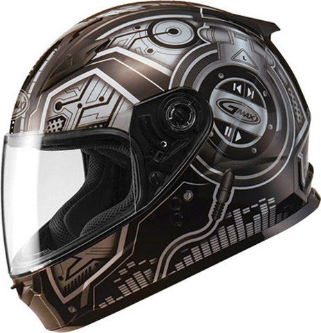 GMAX YOUTH GM49Y FULL FACE BLACK/BLACK SILVER